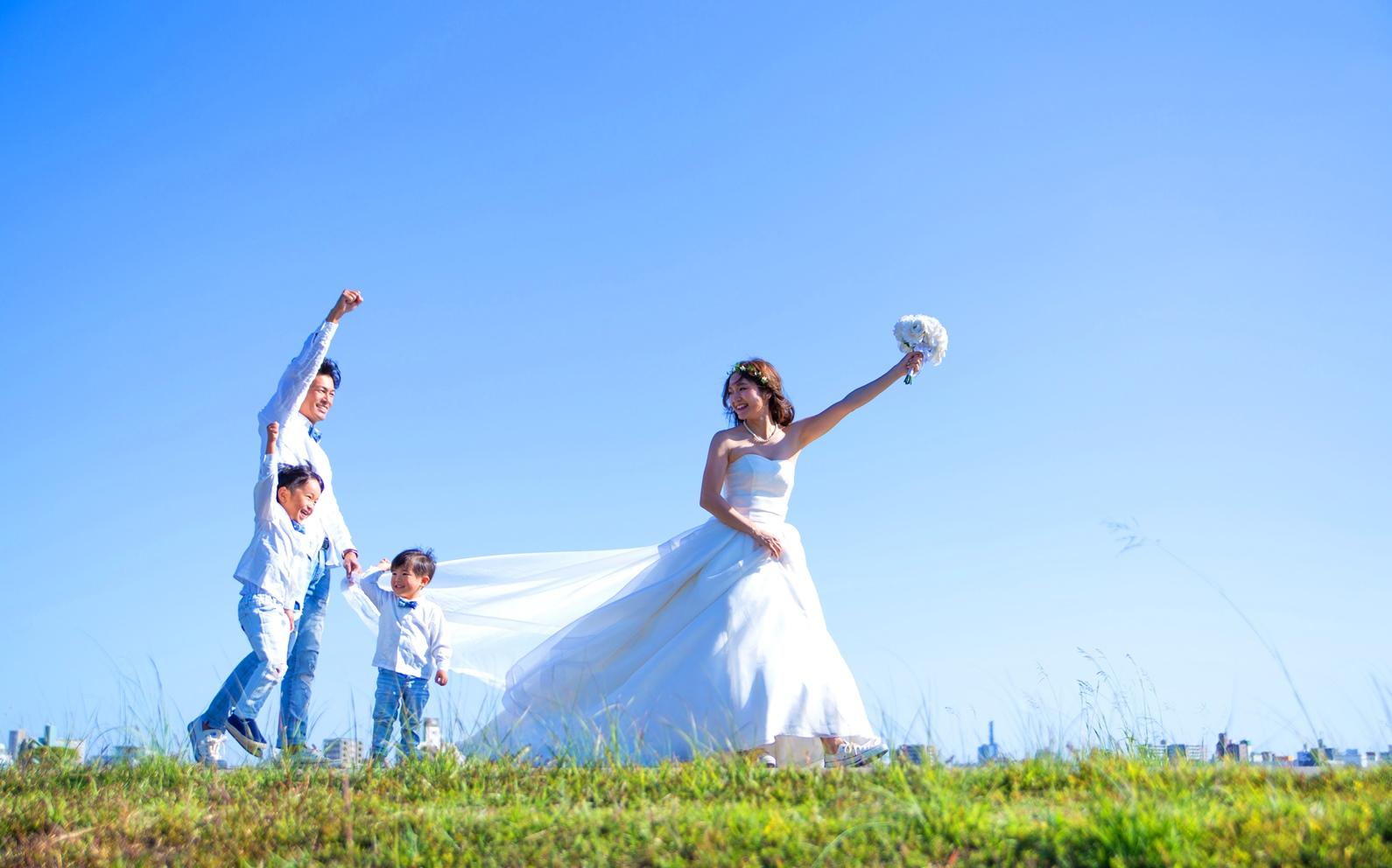 結婚10周年に撮ったファミリーフォト♡