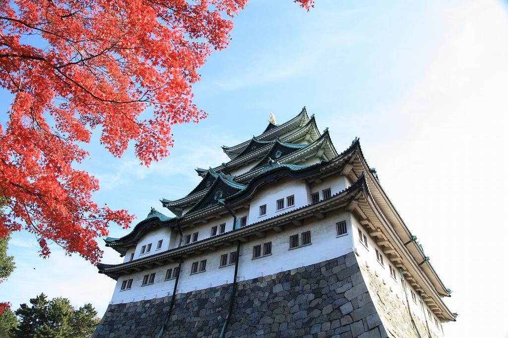 名古屋城の紅葉でロケーションフォト