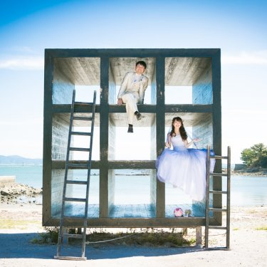 佐久島のおひるねハウスで撮った前撮り写真