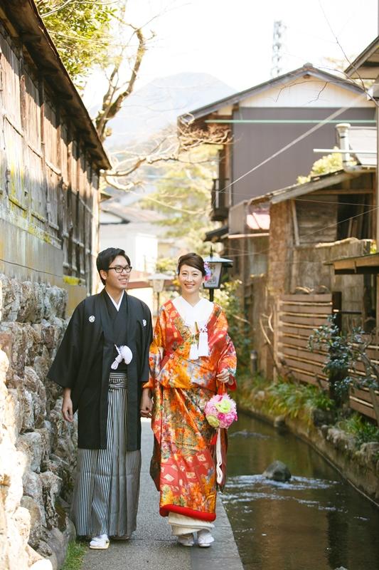 郡上八幡をデートしながら撮影したオリジナルな結婚写真