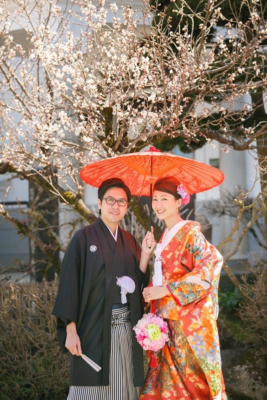 4月に撮影した郡上八幡での結婚写真