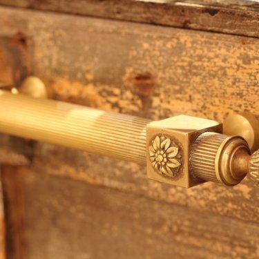 アンティークドアの、真鍮の取っ手