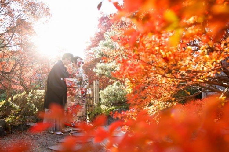 どうだん亭で撮ったオシャレな紅葉ロケ―ション写真