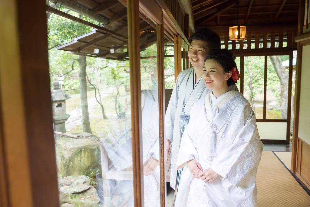 名古屋城で白無垢と色打掛の前撮り2スタイル フォトウェディング