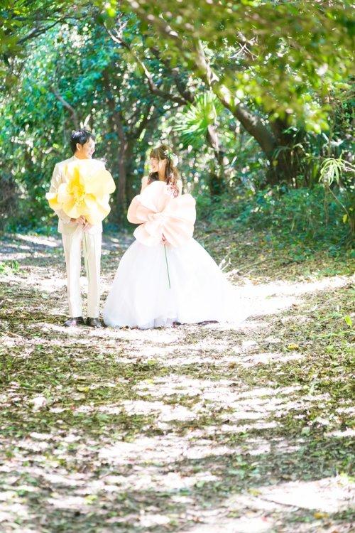 佐久島で撮った結婚写真