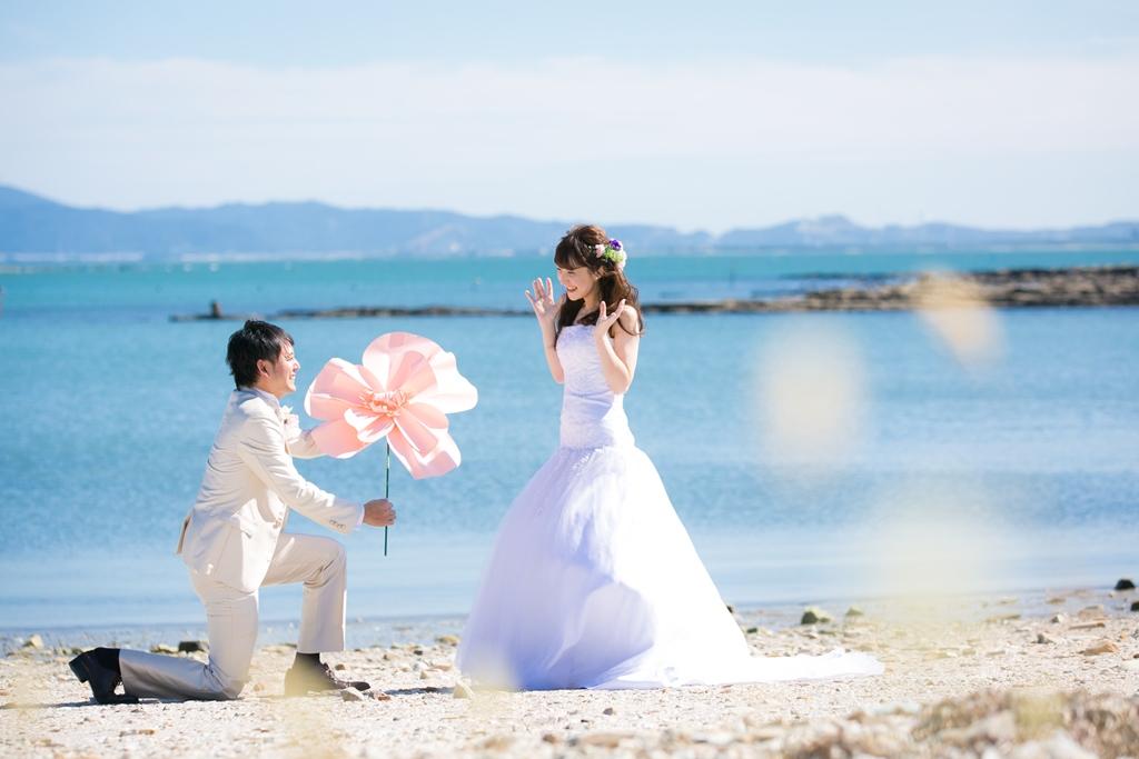 佐久島でプロポーズ