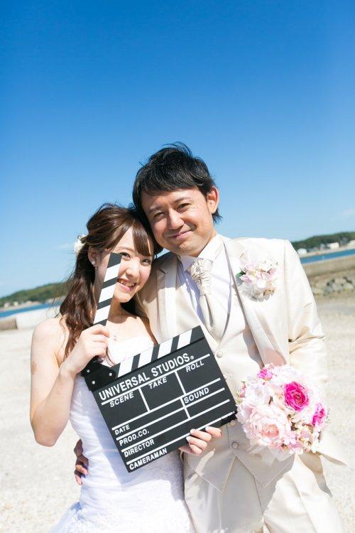 佐久島で撮ったかわいいウェディング写真