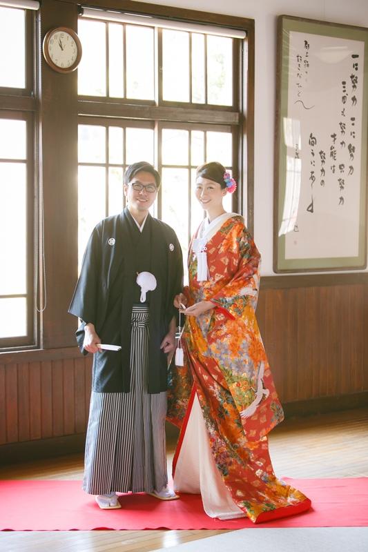 郡上八幡の旧庁舎記念館で撮影した結婚写真