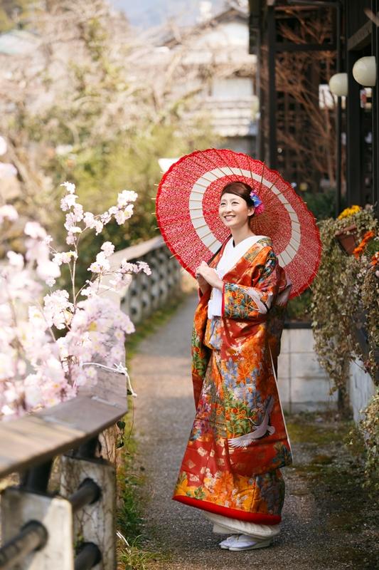 郡上の桜と美しい花嫁