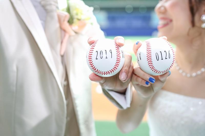 ボールに新郎新婦のお名前