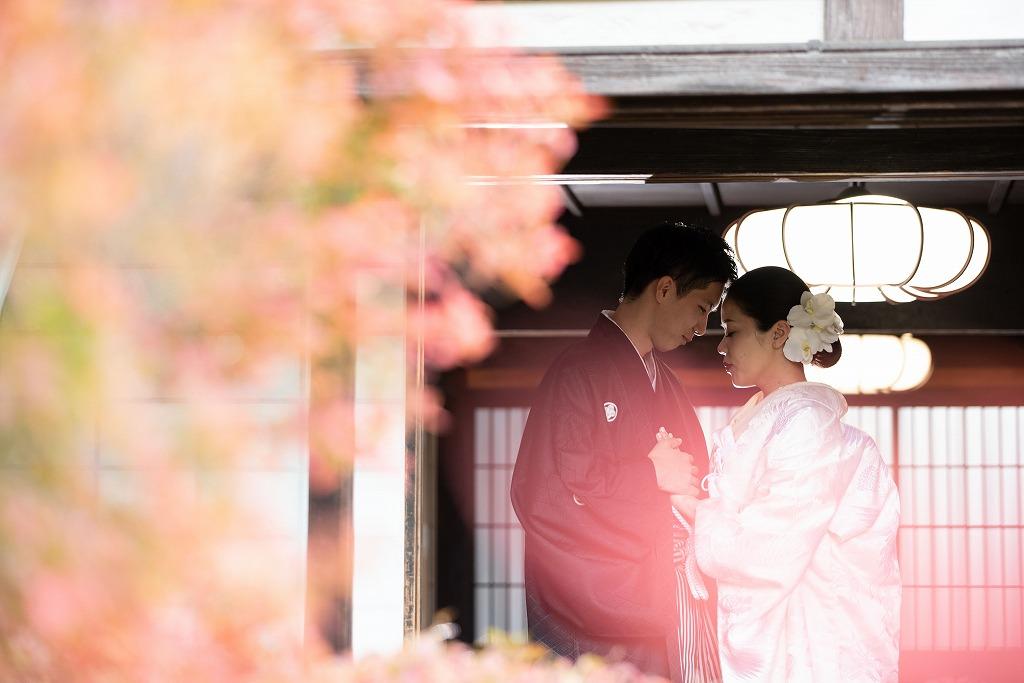 真っ赤な紅葉が圧巻の「どうだん亭」で前撮り撮影