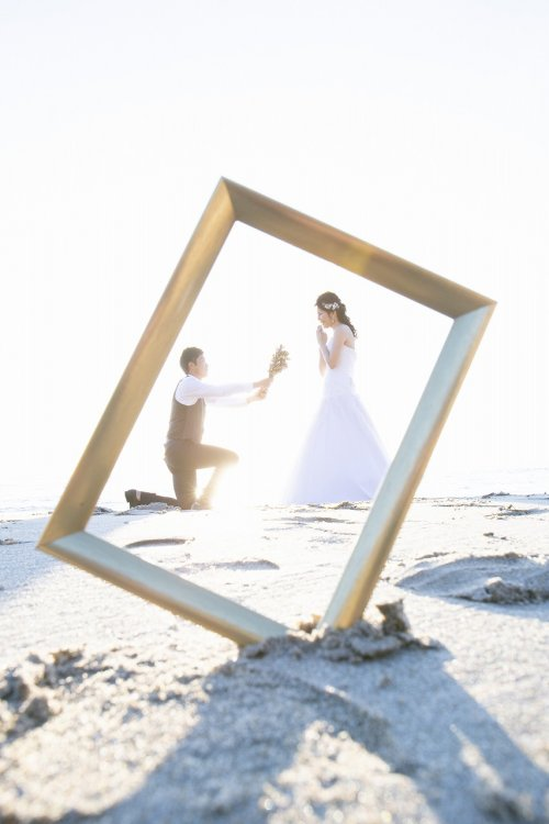 写真の中でもプロポーズ