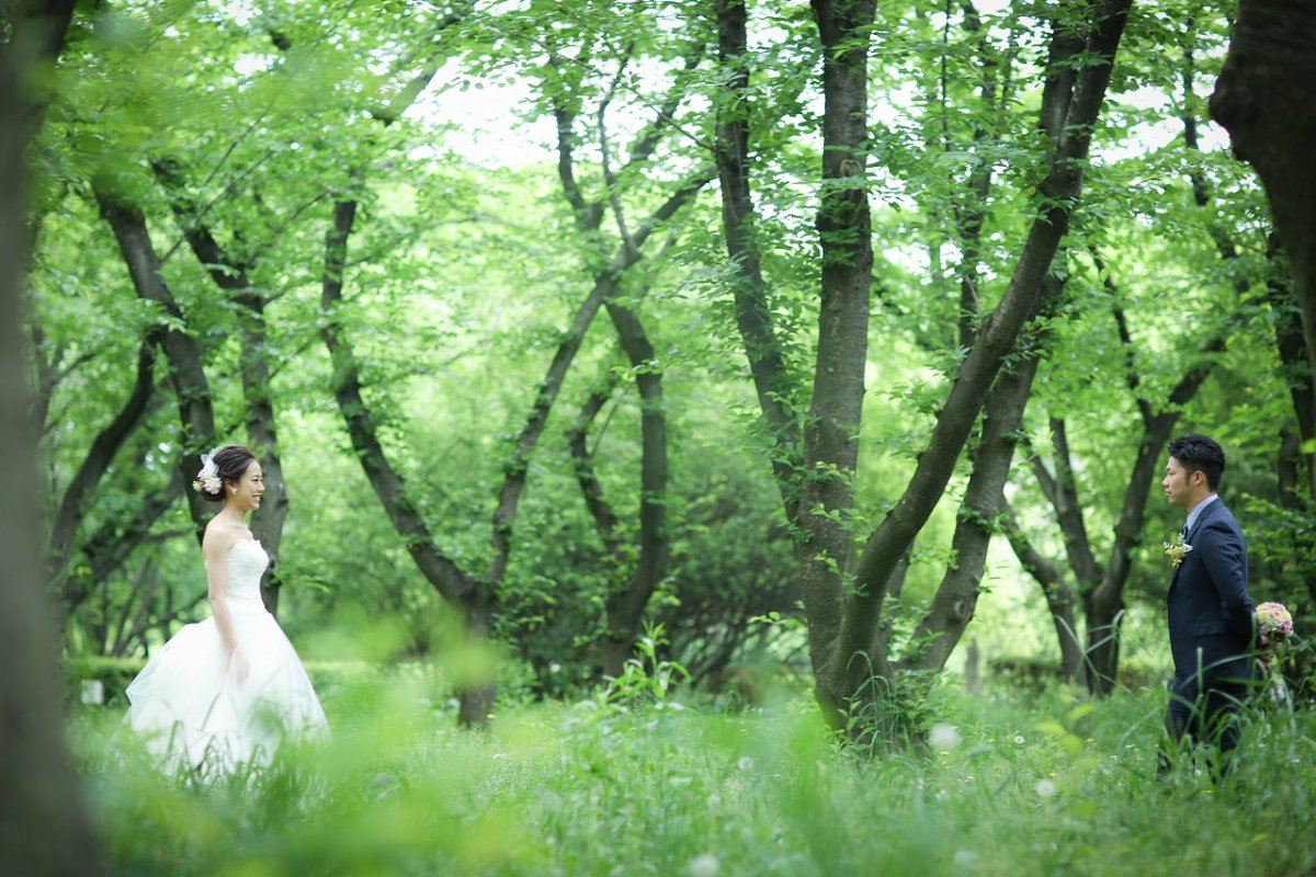 緑がとってもきれいな庄内緑地公園での撮影
