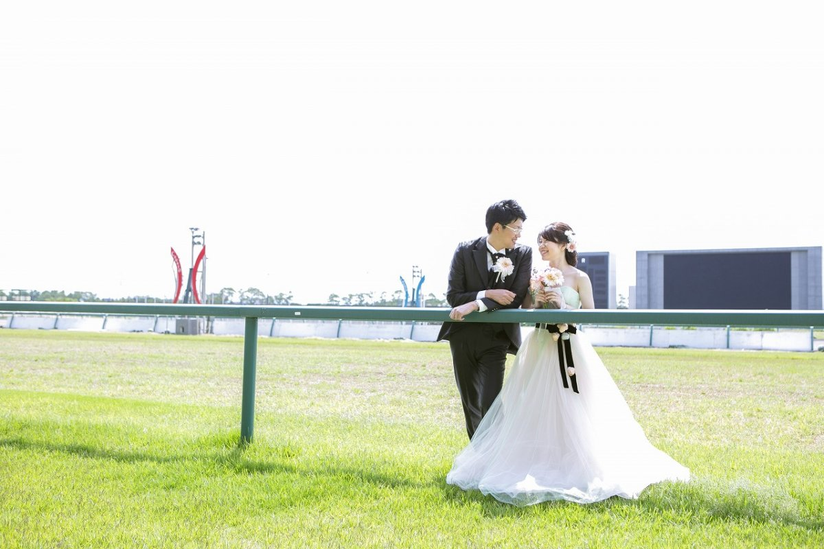 レアスポット「中京競馬場」にて前撮り撮影