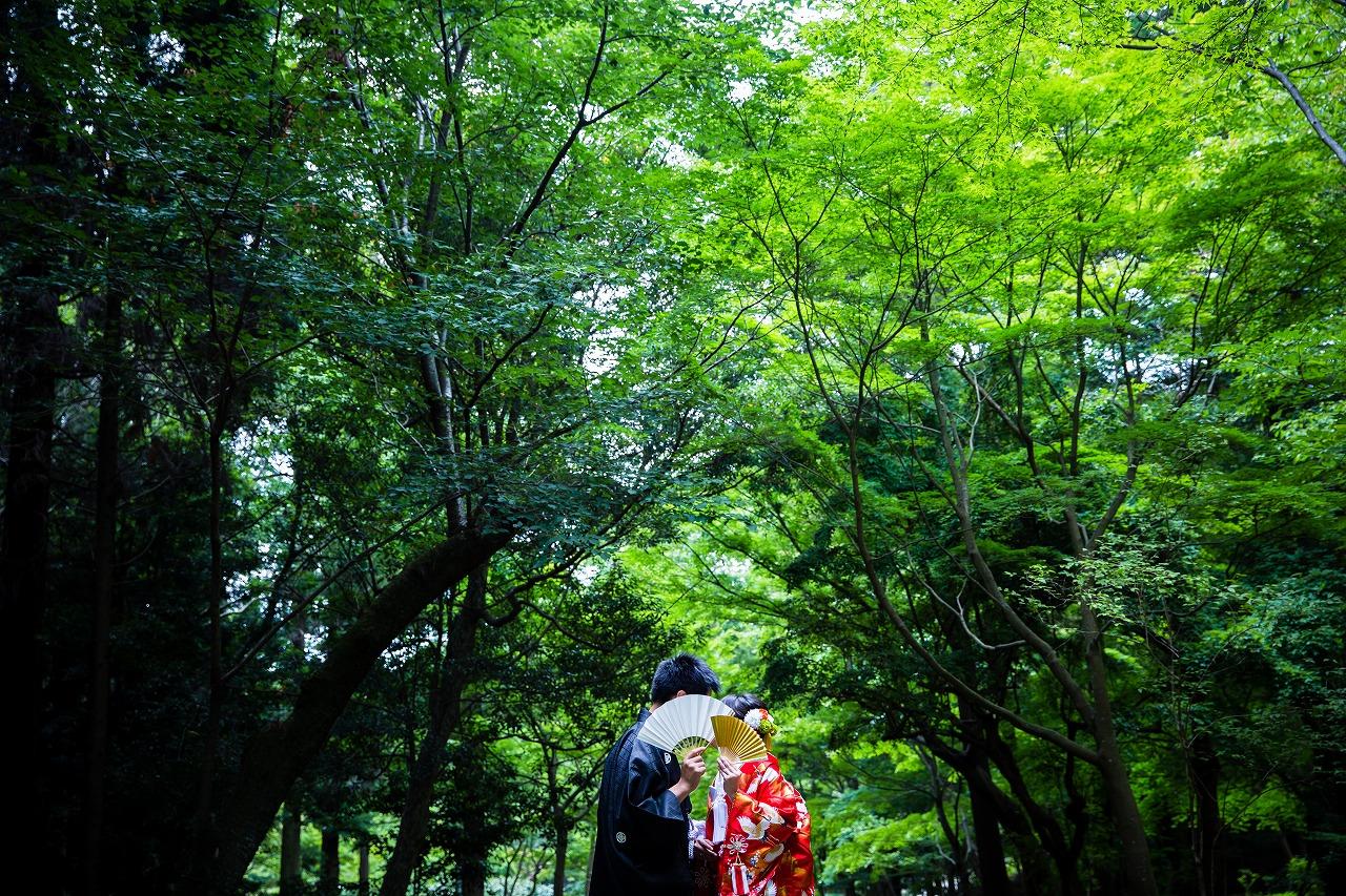 緑の綺麗な【宗節庵】でフォトウェディング