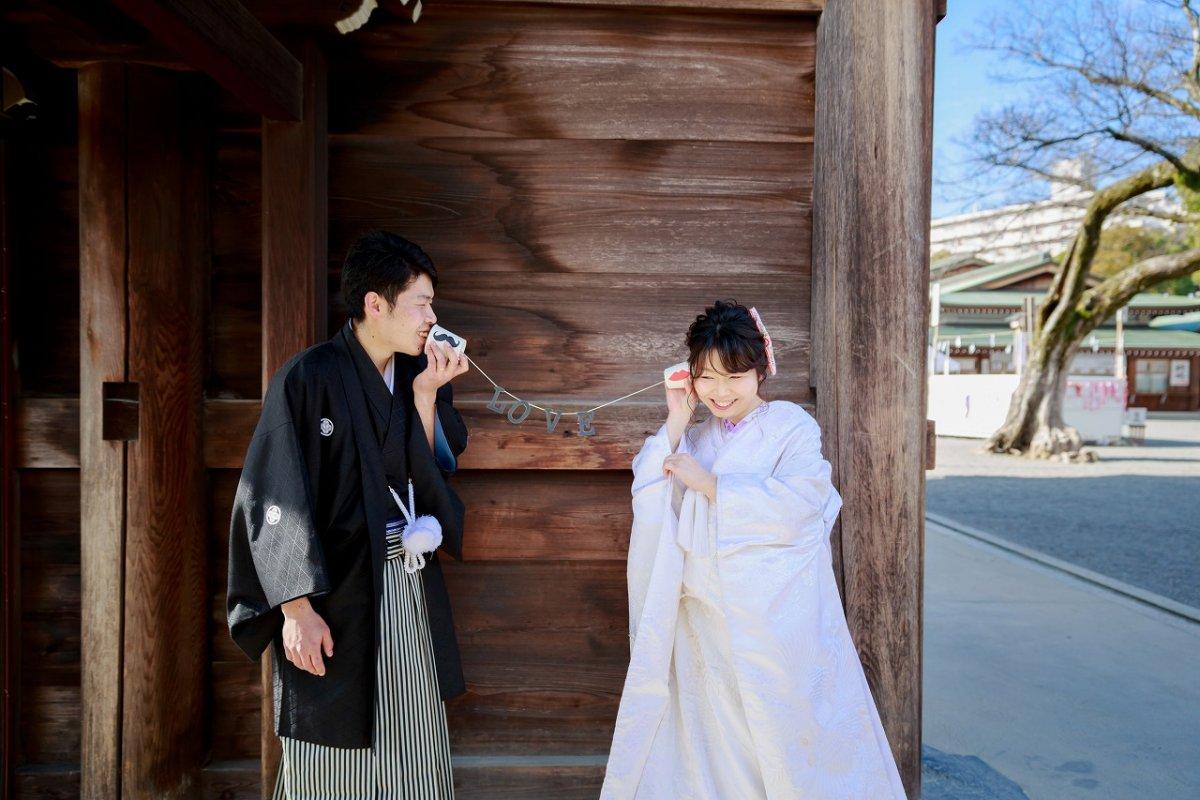 神聖な神社で情緒あふれる和装前撮り