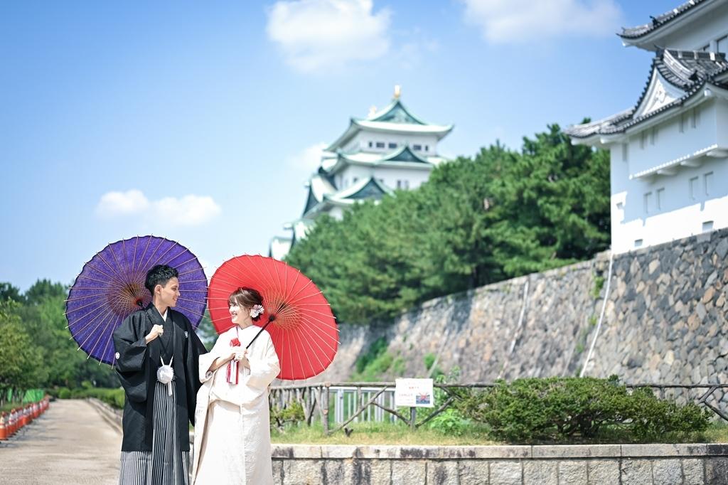 憧れの名古屋城で笑顔満開♡