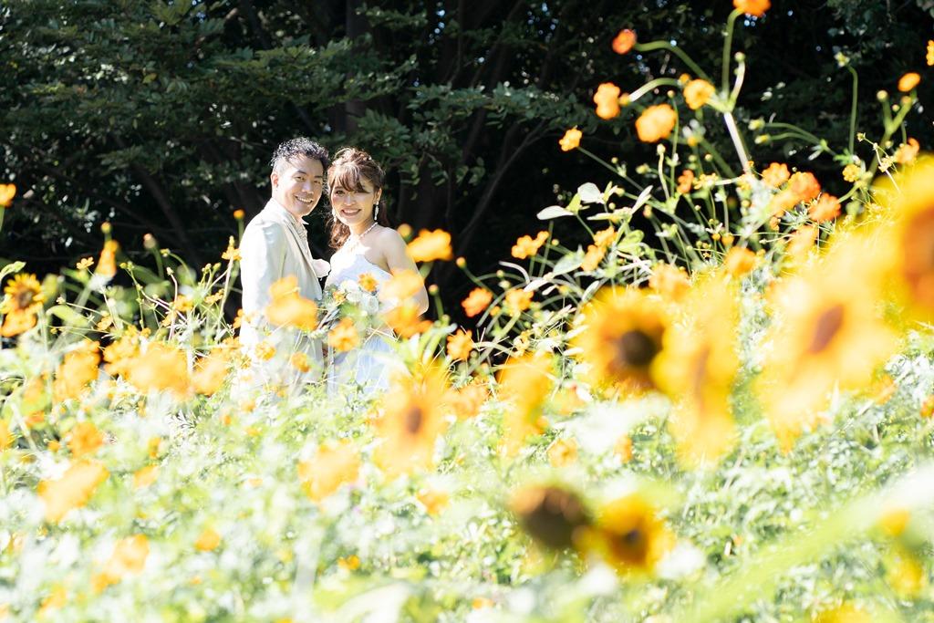 キレイに咲くお花に囲まれて♡
