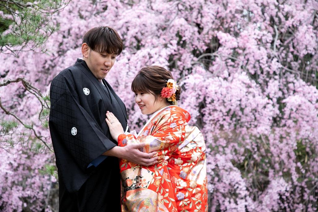 桜と愛いっぱい♡春うらら♡幸せロケーション撮影♪