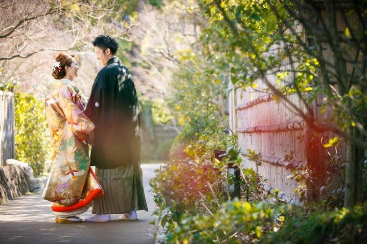 徳川園で撮影した和装ロケーションフォト