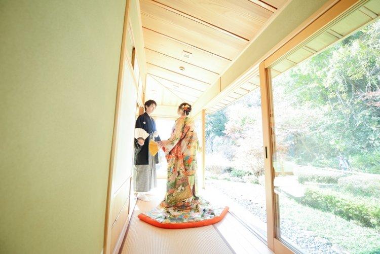 宗節庵のお茶室で撮る結婚写真